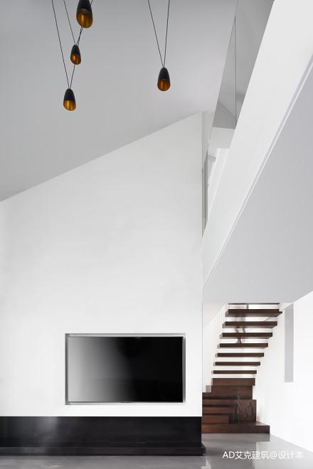 温馨59平现代复式客厅实景图
