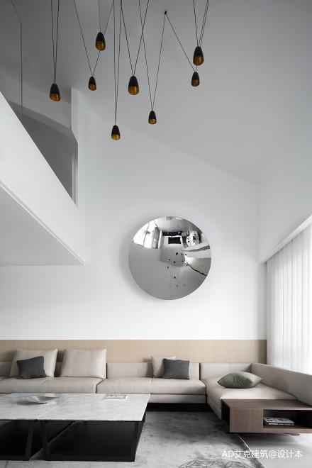 温馨65平现代复式客厅实景图片