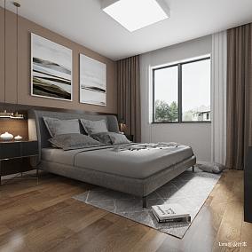 优美108平简约三居卧室设计美图
