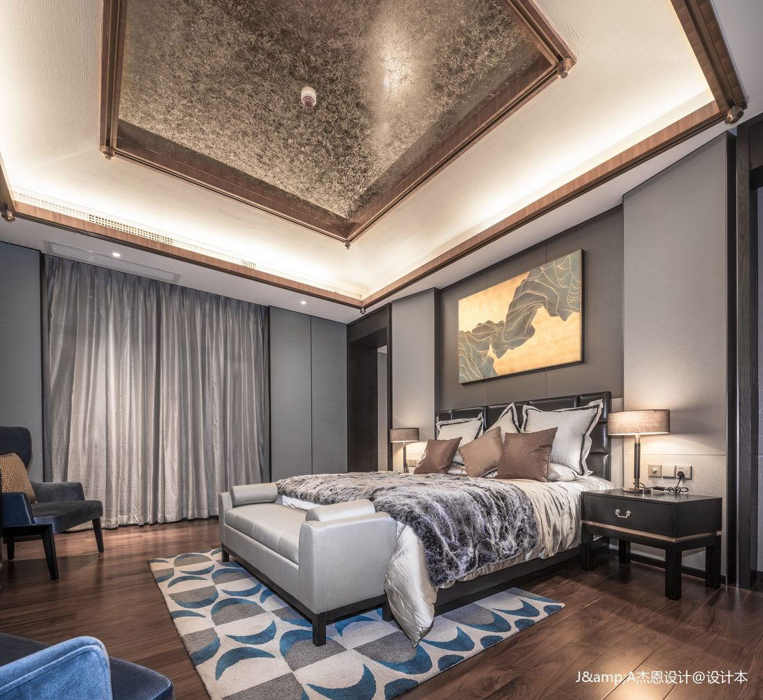 悠雅329平欧式样板间卧室效果图欣赏卧室欧式豪华卧室设计图片赏析