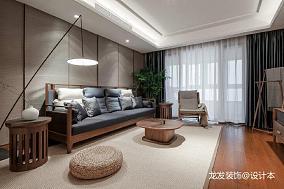 悠雅169平中式四居客厅装修设计图