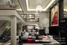 质朴380平中式别墅客厅装饰图151-200m²别墅豪宅中式现代家装装修案例效果图