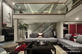 温馨787平中式别墅客厅设计案例151-200m²别墅豪宅中式现代家装装修案例效果图