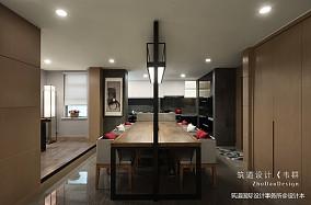 温馨634平中式别墅餐厅装修设计图151-200m²别墅豪宅中式现代家装装修案例效果图