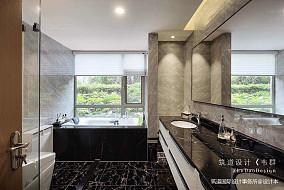 温馨358平中式别墅卫生间图片大全151-200m²别墅豪宅中式现代家装装修案例效果图