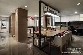 温馨559平中式别墅餐厅实景图片151-200m²别墅豪宅中式现代家装装修案例效果图
