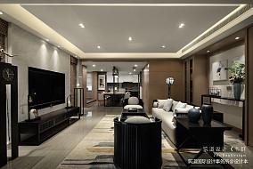 质朴543平中式别墅客厅装饰美图151-200m²别墅豪宅中式现代家装装修案例效果图