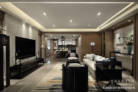 质朴543平中式别墅客厅装饰美图