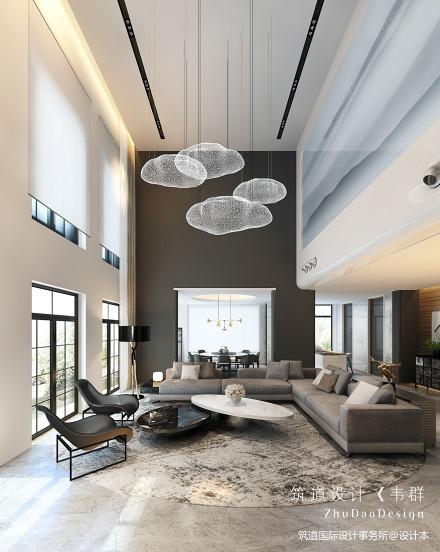 大气800平现代别墅客厅装修装饰图