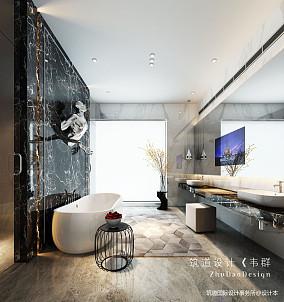 优雅833平现代别墅卫生间设计图