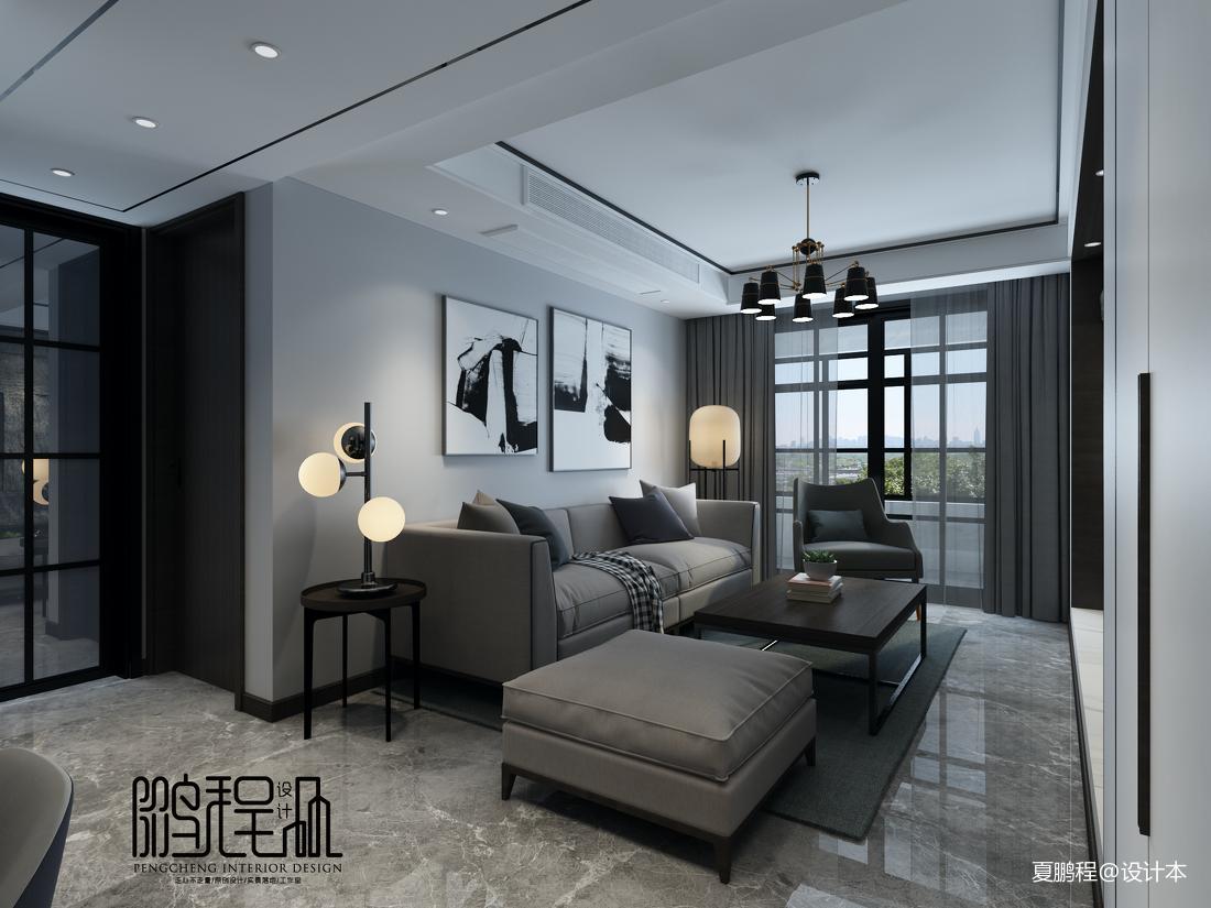 明亮75平简约三居客厅案例图客厅现代简约客厅设计图片赏析