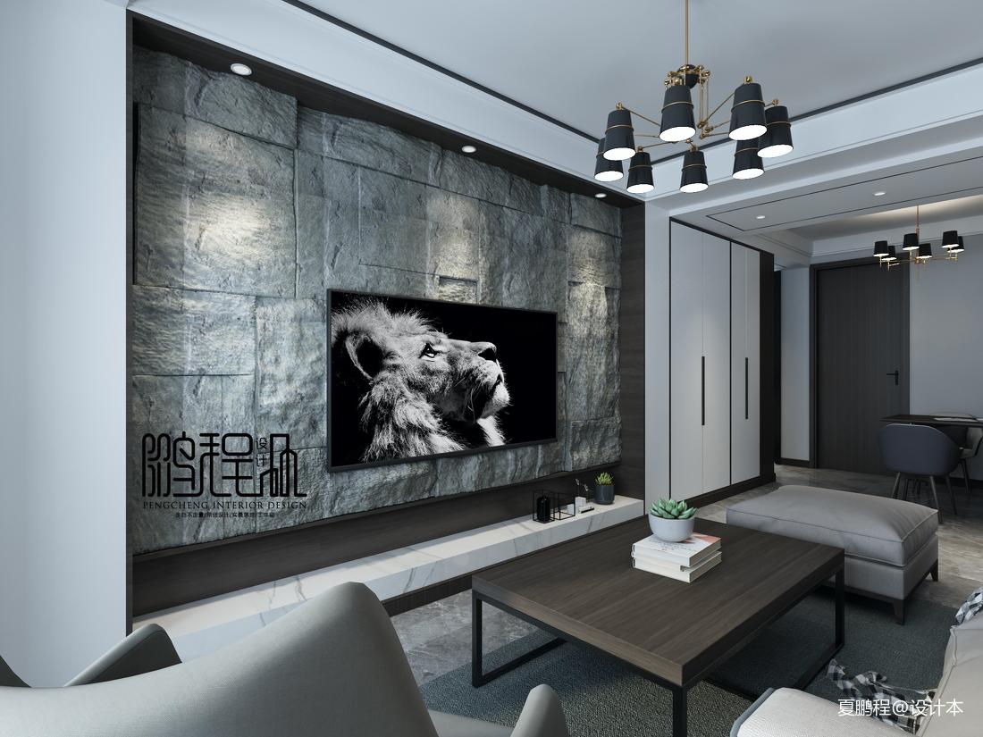 悠雅93平简约三居客厅效果图片大全客厅现代简约客厅设计图片赏析