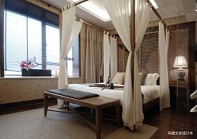 典雅127平东南亚三居卧室设计案例