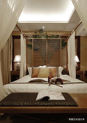 精美107平东南亚三居卧室装饰美图