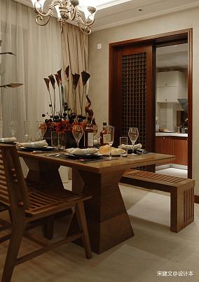 简洁84平东南亚三居餐厅实景图