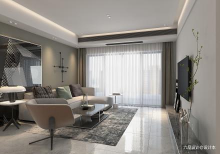 优雅151平简约四居客厅设计美图