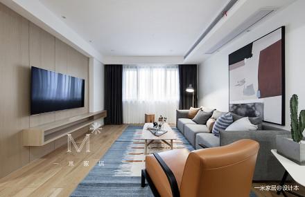 【一米家居】床边故事 120㎡现代_3552086二居现代简约家装装修案例效果图