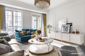 优美540平美式别墅客厅装潢图