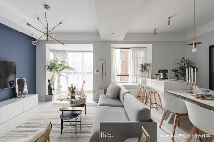 深色系混搭风客厅沙发图片三居潮流混搭家装装修案例效果图