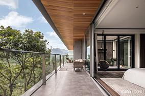时光・淬炼现代风阳台设计图别墅豪宅现代简约家装装修案例效果图