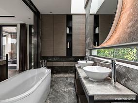 时光・淬炼现代风卫浴洗手台设计别墅豪宅现代简约家装装修案例效果图