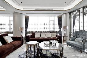 温馨123平混搭四居客厅实景图四居及以上潮流混搭家装装修案例效果图