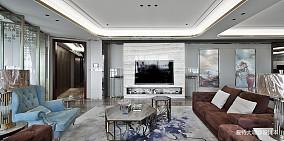 简洁93平混搭四居客厅装修效果图四居及以上潮流混搭家装装修案例效果图