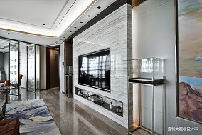 580㎡超大江景房背景墙设计四居及以上潮流混搭家装装修案例效果图