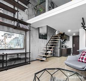 平北欧小户型客厅装修装饰图一居北欧极简家装装修案例效果图