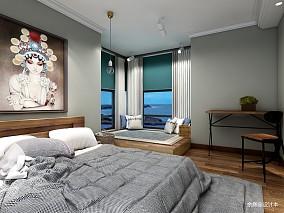 优雅110平北欧三居卧室装修装饰图
