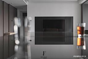 大气59平现代复式客厅效果图复式现代简约家装装修案例效果图