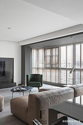 平现代复式客厅装饰图复式现代简约家装装修案例效果图