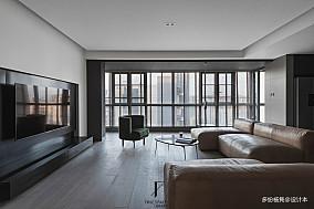 轻奢42平现代复式客厅实拍图复式现代简约家装装修案例效果图