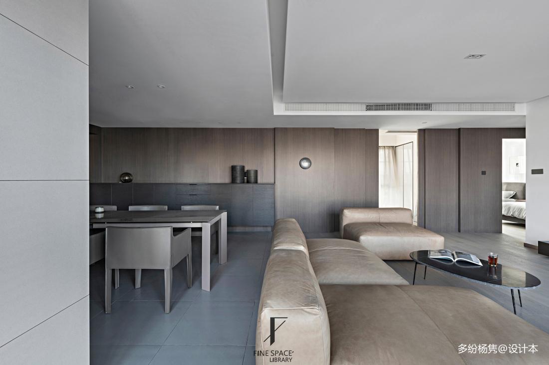 客厅餐厅一体装修设计复式现代简约家装装修案例效果图