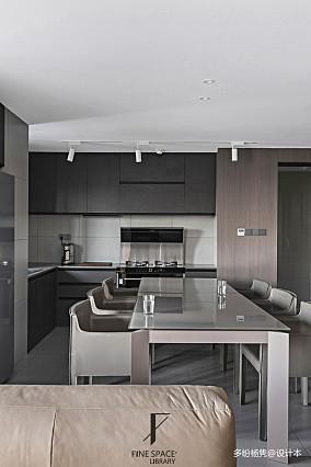 平现代复式餐厅实拍图复式现代简约家装装修案例效果图