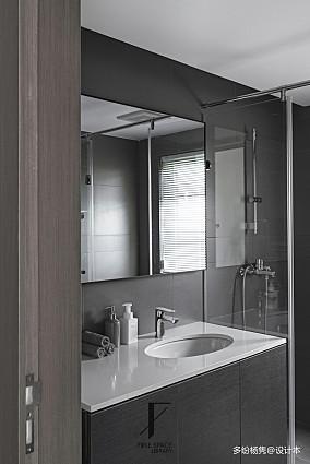 平现代复式卫生间布置图复式现代简约家装装修案例效果图