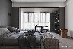 华丽46平现代复式卧室美图复式现代简约家装装修案例效果图