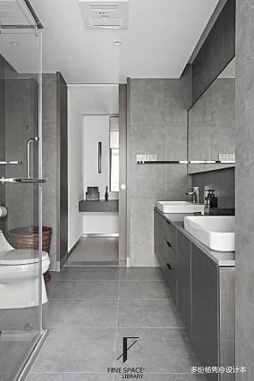 温馨73平现代复式卫生间设计图复式现代简约家装装修案例效果图