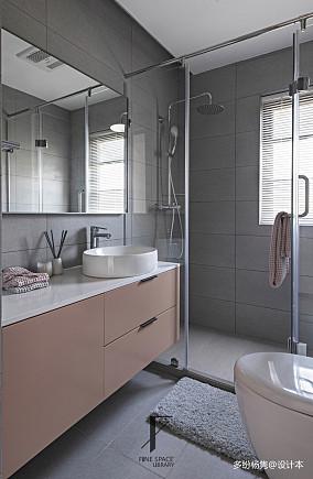 优雅49平现代复式卫生间布置图复式现代简约家装装修案例效果图