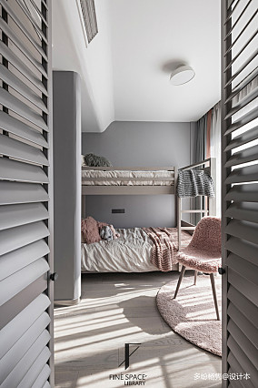 平现代复式儿童房效果图片大全复式现代简约家装装修案例效果图