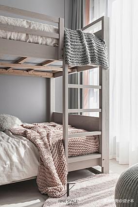 明亮61平现代复式儿童房装修效果图复式现代简约家装装修案例效果图