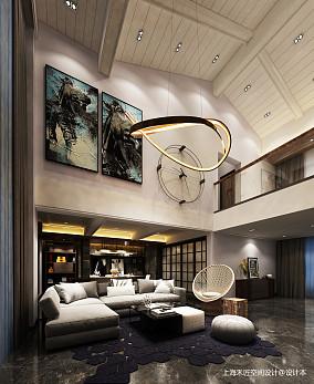 2019350平LOFT别墅客厅装修设计图
