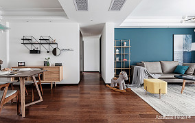 悠雅120平混搭三居客厅设计美图
