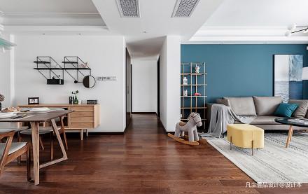 悠雅120平混搭三居客厅设计美图三居潮流混搭家装装修案例效果图