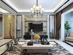 简洁130平欧式三居客厅图片欣赏