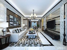 温馨73平欧式三居客厅装修图片