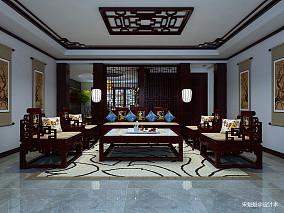 质朴230平中式别墅客厅装修美图