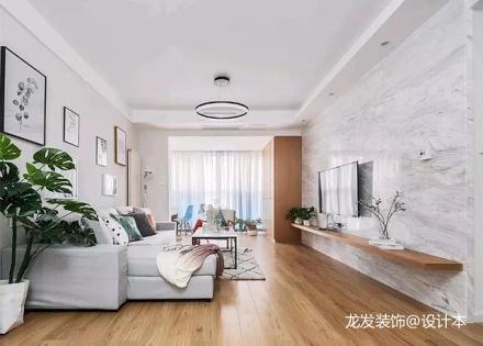 优雅75平北欧二居客厅装修图