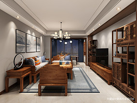 201994平中式三居餐厅装修图