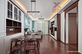雅静.东方101-120m²三居中式现代家装装修案例效果图